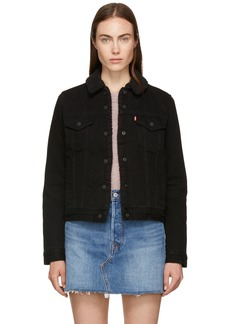 Levi's Black Denim Original Sherpa Trucker Jacket