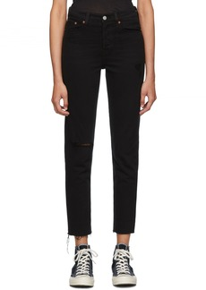Levi's Black Wedgie Jeans