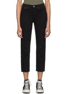 Levi's Black Wedgie Straight Jeans