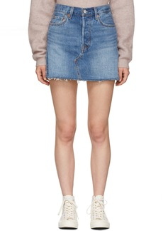 Levi's Blue Deconstructed Miniskirt