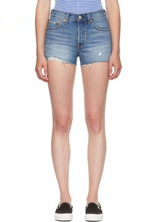 Levi's Blue Denim 501 Shorts