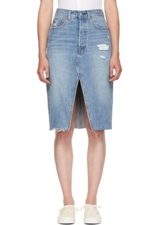 Levi's Blue Denim Deconstructed Skirt