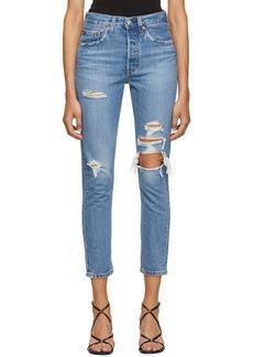 Levi's Blue Skinny 501 Jeans
