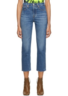 Levi's Blue Straight Wedgie Jeans