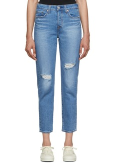Levi's Blue Wedgie Icon Fit Jeans