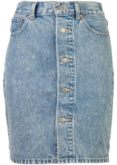 Levi's button mom skirt