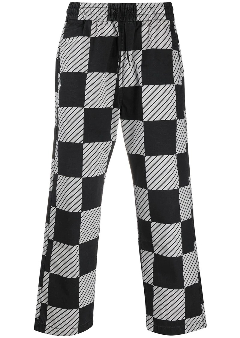 Levi's checkered print drawstring trousers