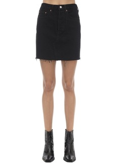 Levi's Cotton Denim Mini Skirt