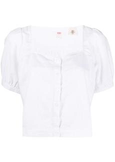 Levi's cropped button blouse