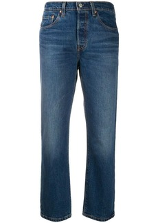 Levi's cropped faded jeans