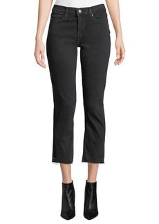 Levi's Curvy Mid-Rise Straight-Leg Cropped Jeans