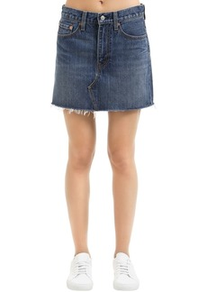 Levi's Deconstructed Cotton Denim Skirt