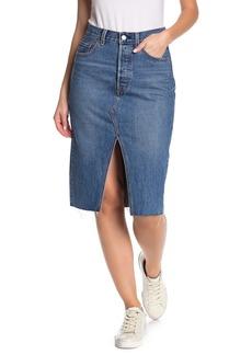 Levi's Deconstructed Denim Midi Skirt