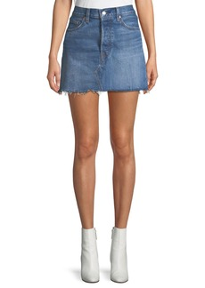 Levi's Deconstructed Frayed Denim Mini Skirt