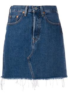 Levi's Deconstructed high-rise denim skirt