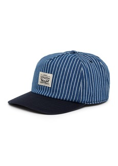 Levi's Denim Striped Baseball Cap