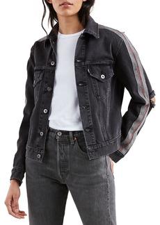 Levi's Distressed Denim Boyfriend Trucker Jacket