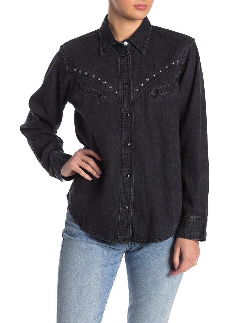Levi's Dori Embellished Stud Western Shirt