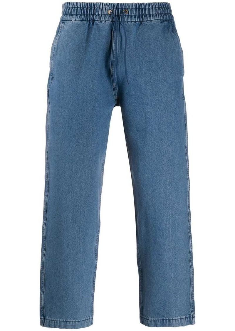 Levi's drawstring cropped denim trousers