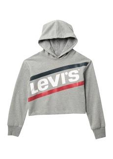 Levi's Drop Shoulder Crop Hoodie (Big Girls)