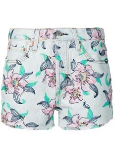 Levi's embroidered floral denim shorts