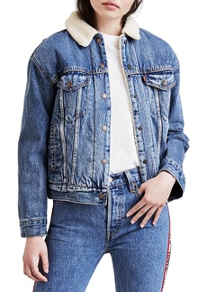 Levi's Ex-Boyfriend Denim Trucker Jacket w/ Faux-Fur Lining