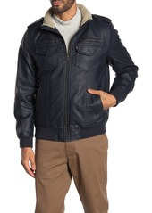 Levi's Faux Leather & Faux Shearling Bomber Jacket