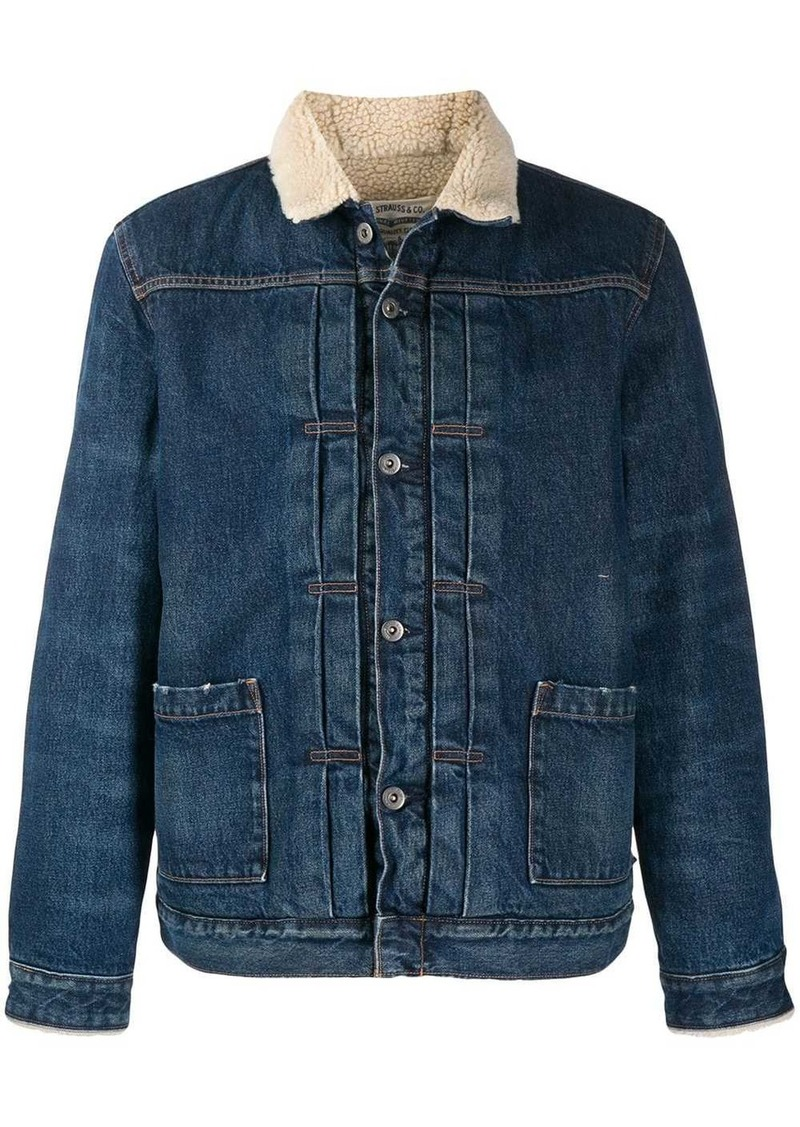 Levi's faux shearling lined denim jacket