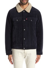 Levi's Faux Suede & Faux Shearling Lined Trucker Jacket