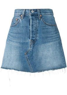 Levi's fitted denim skirt