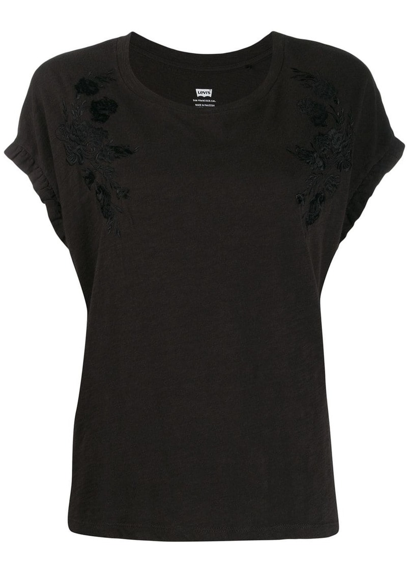 Levi's flower embroidered T-shirt