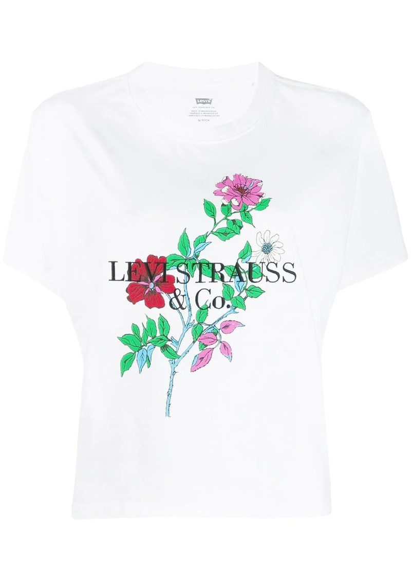 Levi's flower print cropped T-shirt