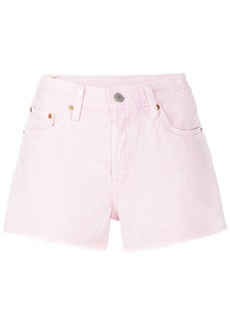 Levi's frayed denim shorts
