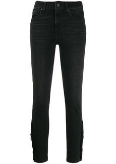 Levi's fringed hem skinny jeans