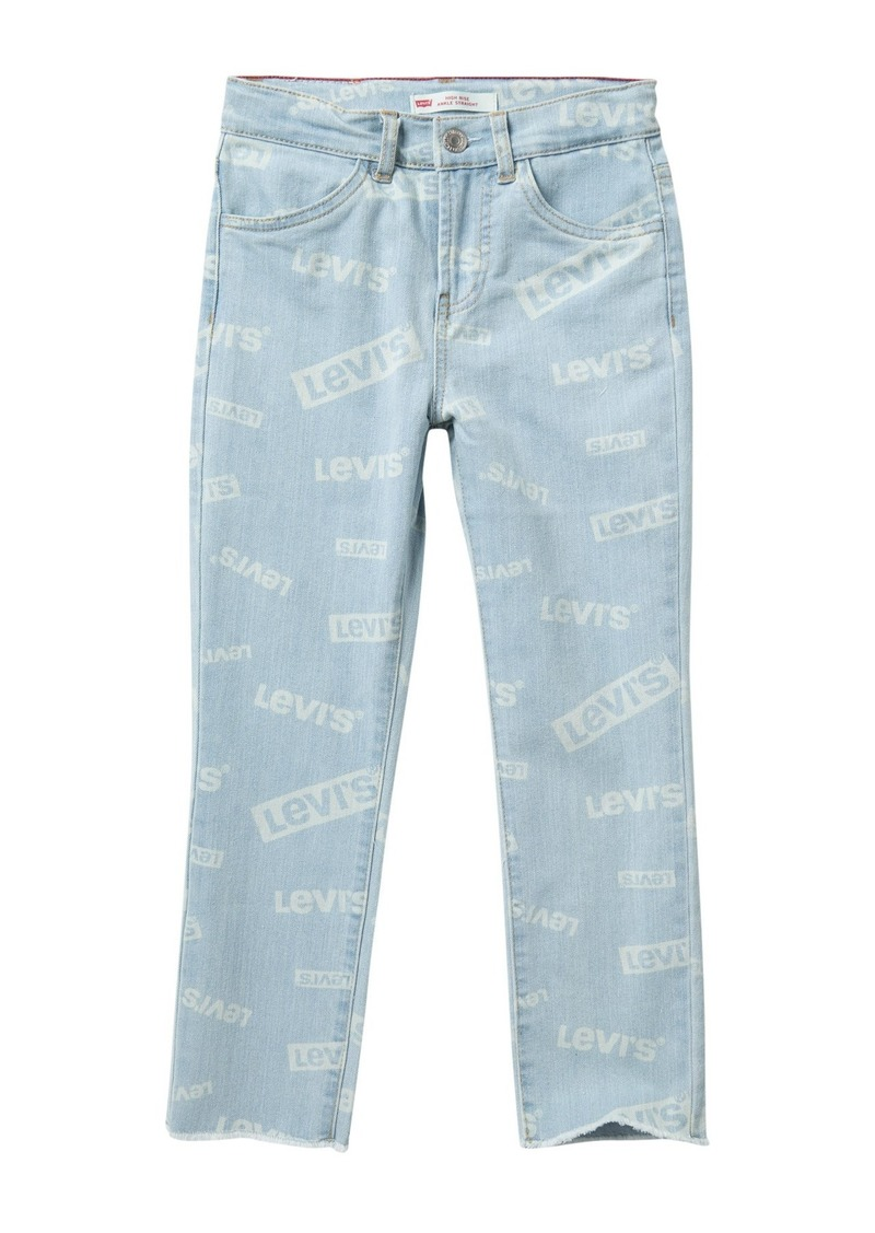 Levi's High Rise Ankle Straight Jeans (Big Girls)
