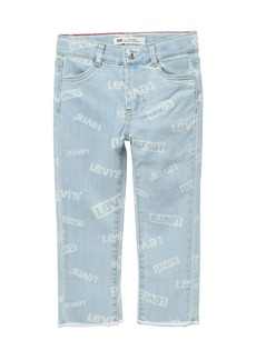 Levi's High Rise Ankle Straight Jeans (Toddler Girls)