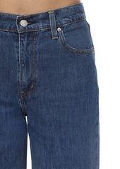 Levi's High Rise Mom Fit Cotton Denim Jeans