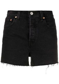Levi's high-rise raw-cut shorts