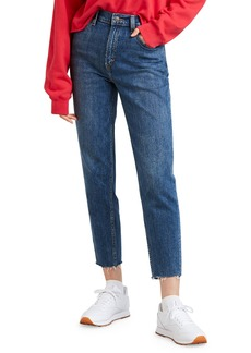 Levi's High-Waist Straight-Leg Cropped Mom Jeans