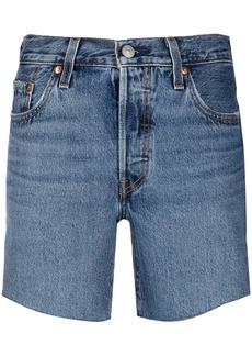 Levi's high-waisted denim shorts