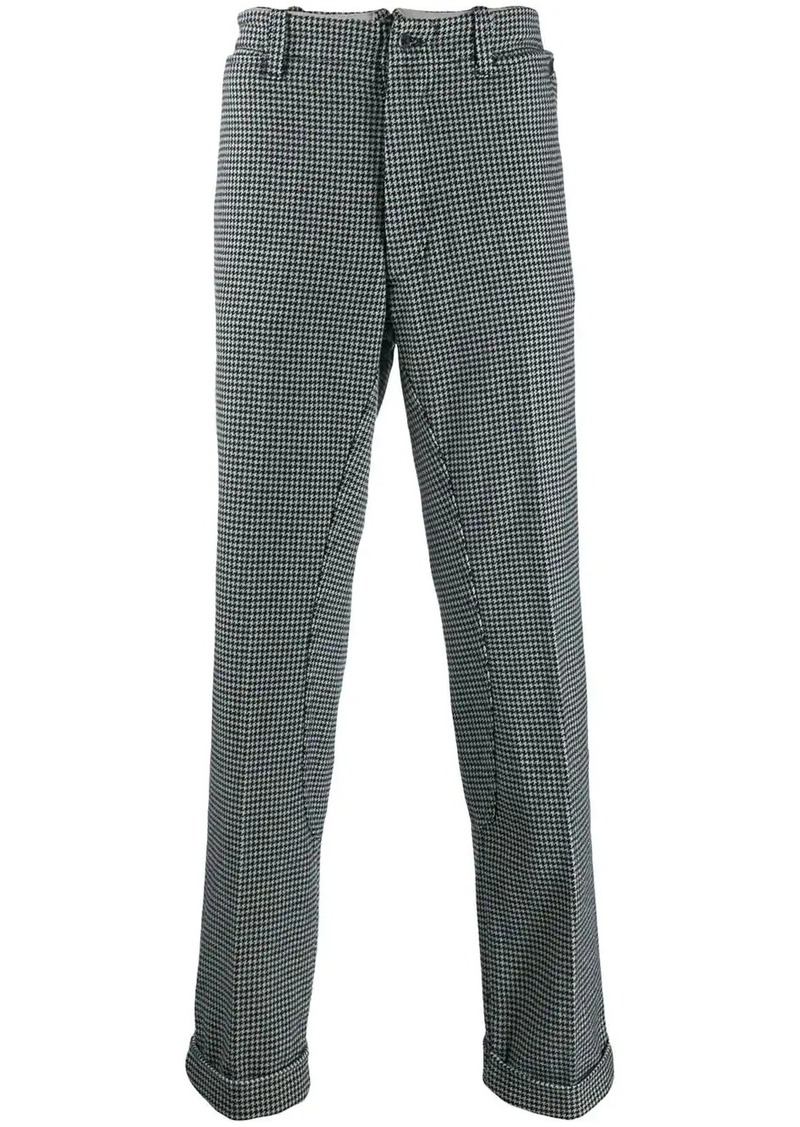Levi's houndstooth drop-crotch trousers