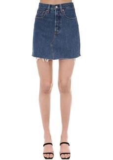 Levi's Iconic Button Cotton Denim Mini Skirt