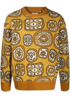 Levi's intarsia-knit crew neck jumper