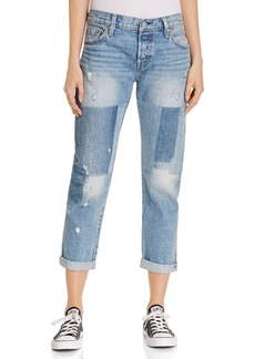 Levi's 501� Boyfriend Jeans in Stacked Patch