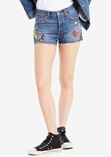 Levi's 501 Cotton Patched Denim Shorts