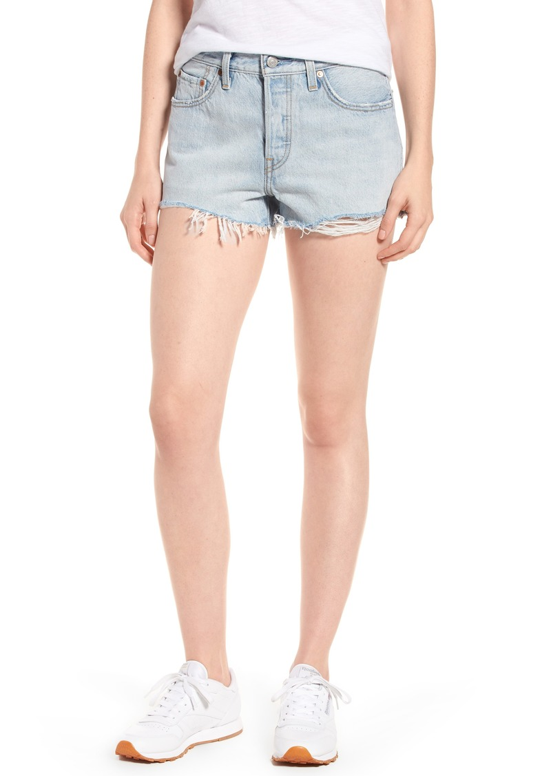 8433b251 SALE! Levi's Levi's® 501® Cutoff Denim Shorts (Bleached Authentic)