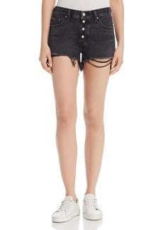 Levi's 501 Cutoff Denim Shorts in Black