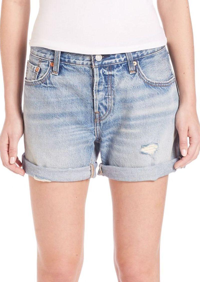 Levi's 501 Distressed Cuffed Selvedge Denim Shorts