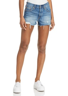 Levi's 501 Distressed Denim Shorts in Back to Your Heart