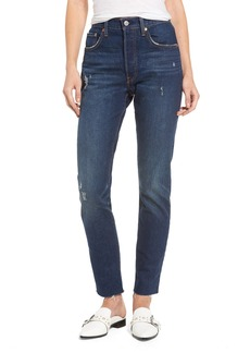 Levi's Levis® 501 Raw Hem Skinny Jeans (Song for Forever)